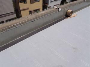 品川区 集合住宅 ウレタン防水 シート端末・入隅処理写真