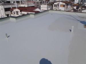 品川区 集合住宅 ウレタン防水 平場 ウレタン2層目2写真