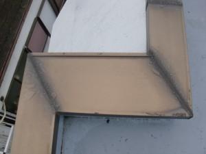 品川区 集合住宅 屋上防水 アルミ笠木ブリッジ処理施工前写真