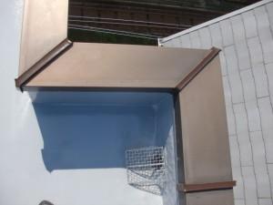 品川区 集合住宅 屋上防水 アルミ笠木 シーリング材硬化後バックアップ材撤去