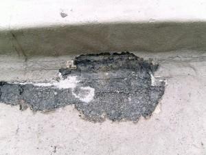 世田谷区集合住宅屋上防水工事 不良箇所写真
