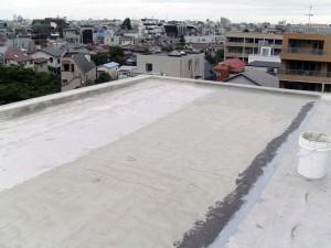 世田谷区集合住宅屋上防水工事 下地調整写真