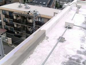 世田谷区集合住宅屋上防水工事 立上り下地調整02写真