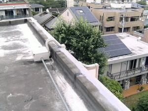世田谷区集合住宅屋上防水工事 立上り下地調整03写真