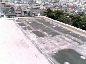 世田谷区集合住宅屋上防水工事 平場下地調整01写真