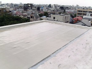 世田谷区集合住宅屋上防水工事 プライマー塗布03写真