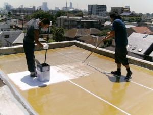 世田谷区集合住宅屋上防水工事 FRPガラスマット張り03写真