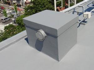 世田谷区集合住宅屋上防水工事  FRP防水 施工完了08写真