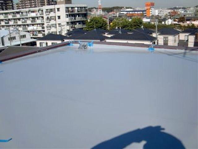 横浜市港北区屋上防水 施工後02写真