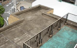 世田谷区賃貸マンション アスファルト防水コンクリート押さえ施工前